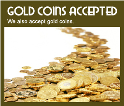 gold coins accepted